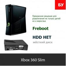 Microsoft Xbox 360 Slim No HDD, БП, Джойстик, Шнуры  [FR]