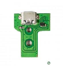 Плата зарядки / синхронизации джойстика Sony PlayStation 4 (Green, JDS-030, 12Pin)